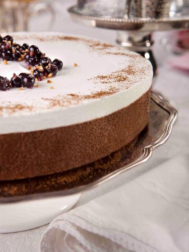 עוגת מוס שוקולד בשלושה טעמים