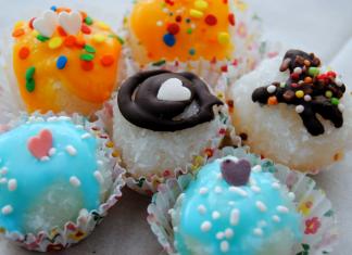 עוגיות קוקוס צבעוניות
