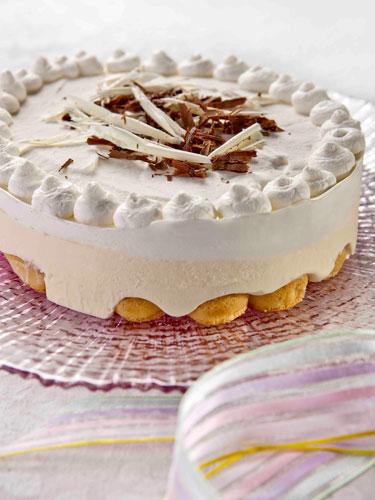 עוגת-מוס שוקולד לבן ויוגורט