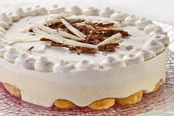עוגת מוס שוקולד לבן ויוגורט