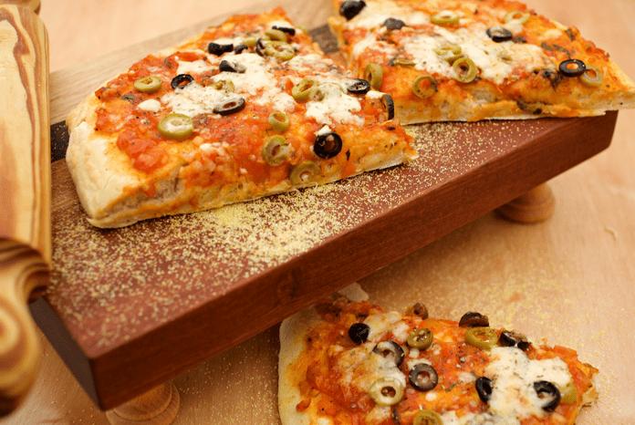 פיצה אמיתית לאפייה עם הילדים